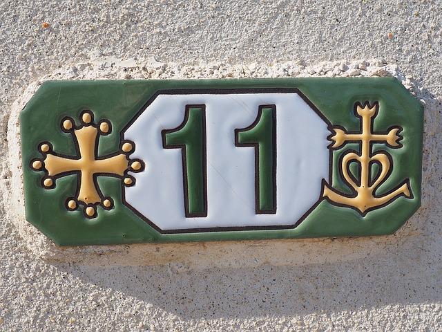 how to install house numbers on stucco