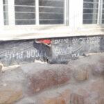 window leak repair caulking